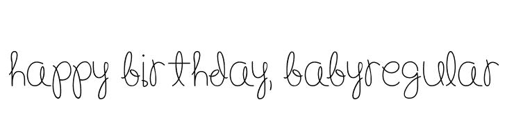 Happy Birthday Schriftart ~ Happy birthday baby medium schriftart herunterladen