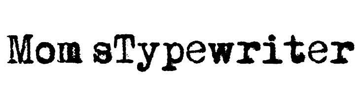 schriftart typewriter: